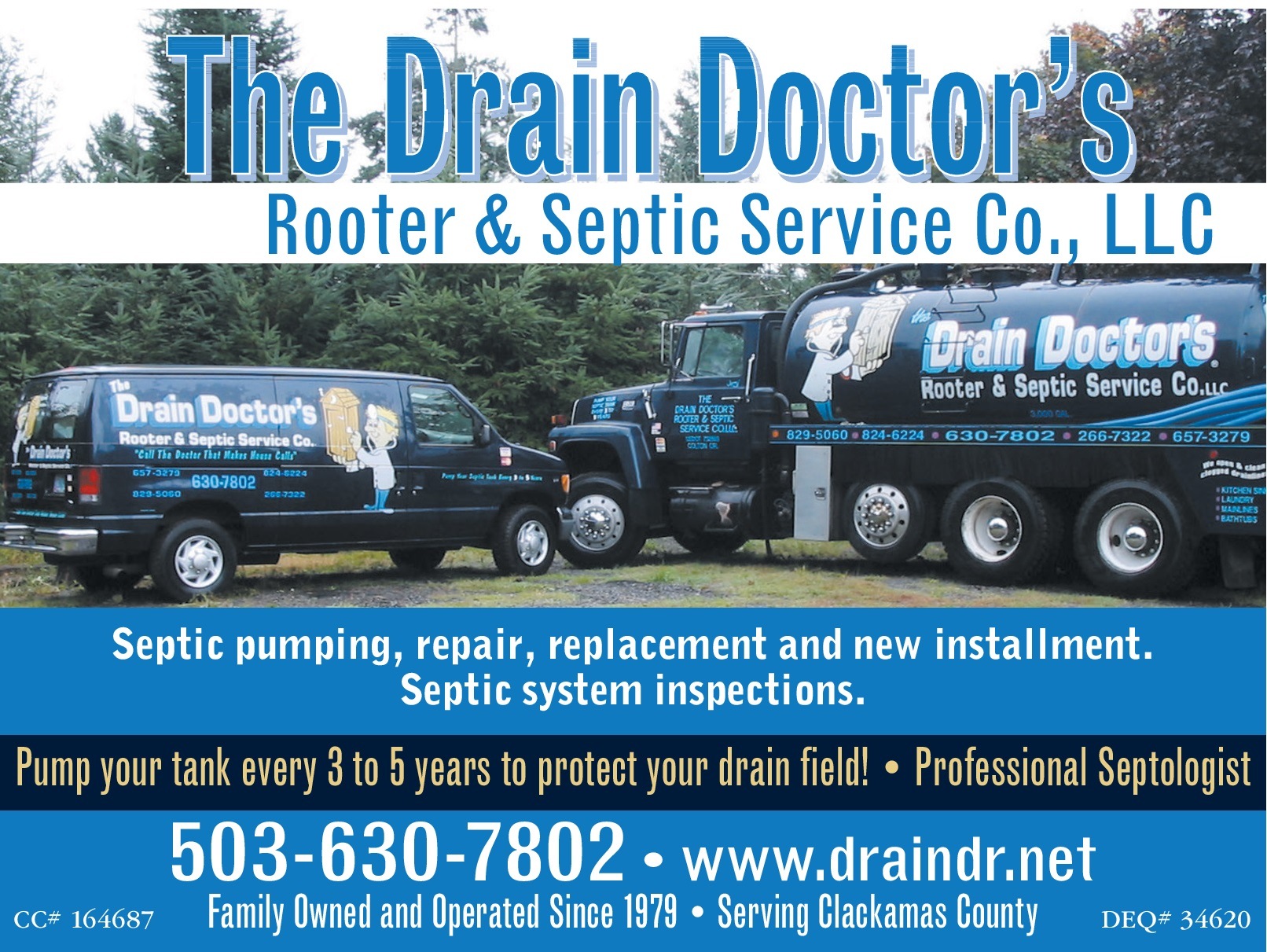 Septic Pumping & Repair Services in Colton, OR, Cleaning Services